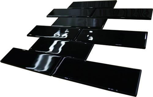 Pastilha de vidro retangular