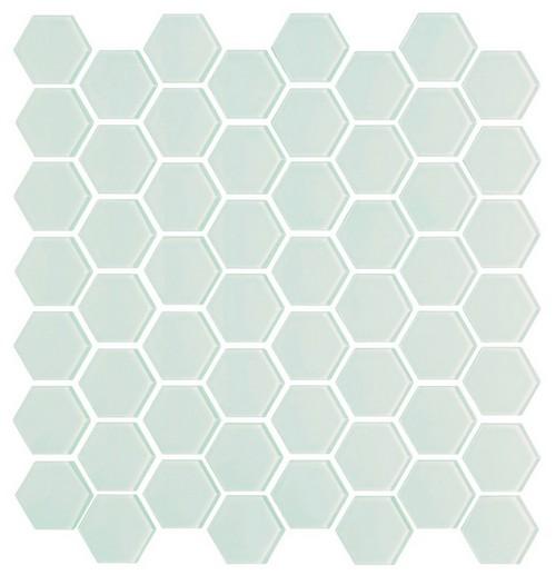 Pastilhas de vidro hexagonal